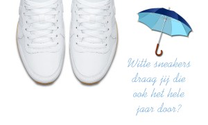 Witte sneakers in de winter?