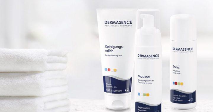 Dermasence, lotion, tonic, mousse, reiniging, huid, beauty