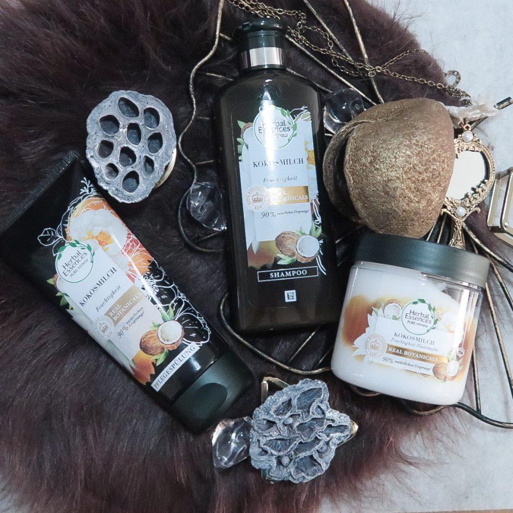 Met Herbal Essences kokos super zachte haren