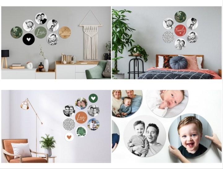 Fotocadeau, collage, hexagon, cirkel, Vaderdag, cadeau, foto, fotografie, muur decoratie, lifestyle, yustsome