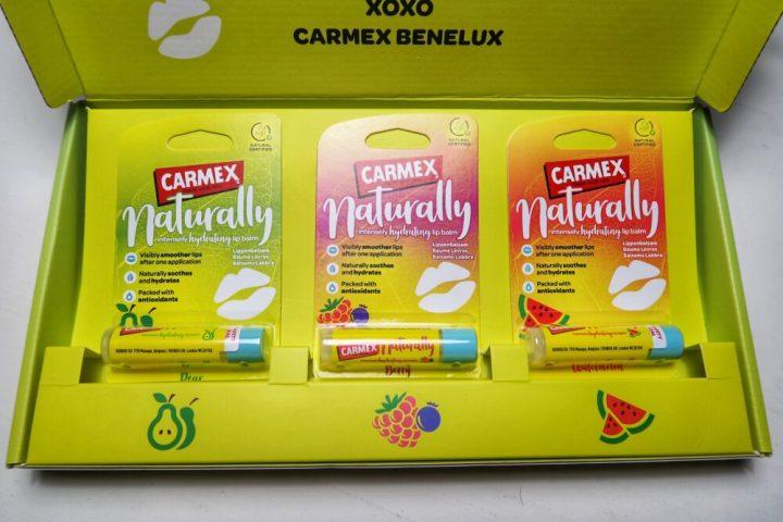 Carmex, lipbalm, watermelon, berry, pear,