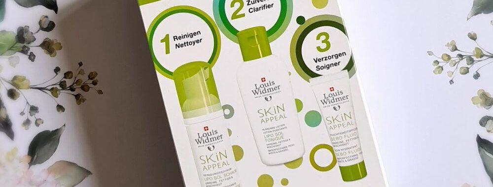 Skin Appeal, starter, kit, louis, widmer, onzuiver, huid, huidverzorging, tiener, puber, meeeters, puistjes, kalmeren, zuiveren