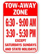 レッカーゾーン駐車禁止サイン