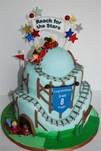 ジェットコースターケーキ