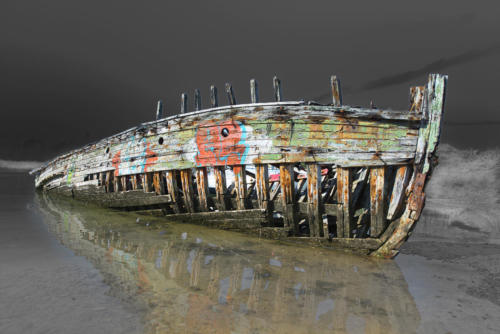 """Cimetiere de bateau de """"La passagère"""" en Bretagne"""