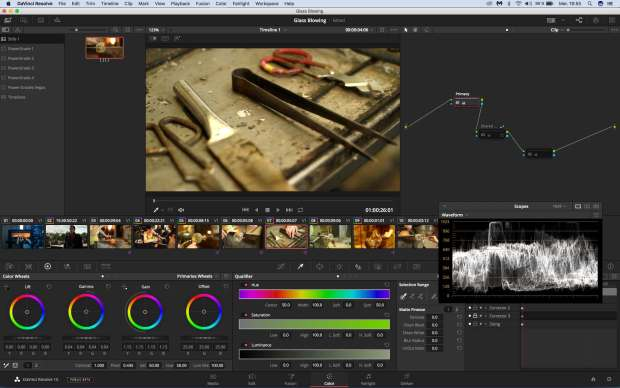 Formations Da Vinci Resolve 15 étalonnage. L'interface actuelle.