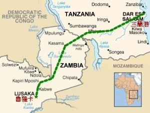 Tanzam map