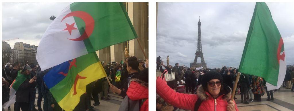 Manifestations pour l'Algérie à Paris au Trocadéro