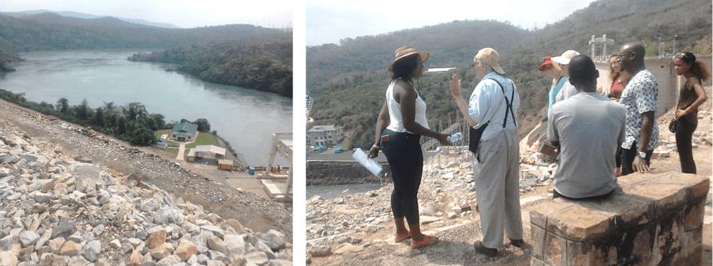 Le grand barrage sur la Volta au Ghana