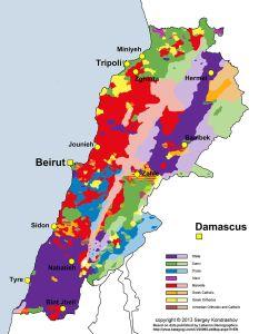 Répartition des confessions religieuses au Liban