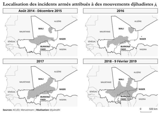 Zones territoriales du Djihad africain
