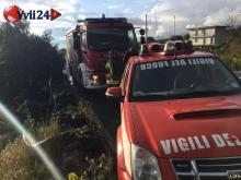 I VV.FF del distaccamento di Paternò - Foto Luca Crispi