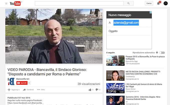 """L'intervista di Yvii24 al Sindaco Pippo Glorioso, diventa parodia di """"Biancavilla ieri"""""""