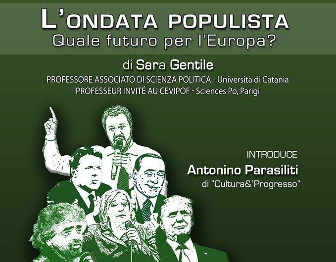 """Santa Maria di Licodia, sabato conferenza dal tema """"L'ondata populista – quale futuro per l'Europa?"""""""