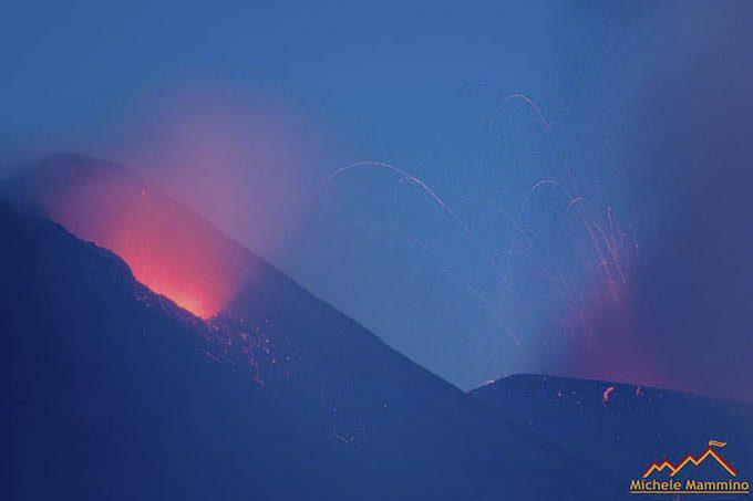 Etna, parossismo in corso