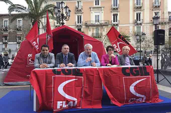 Catania e Linguaglossa, conclusa l'iniziativa Flai-Cgil #cimettiamoletende