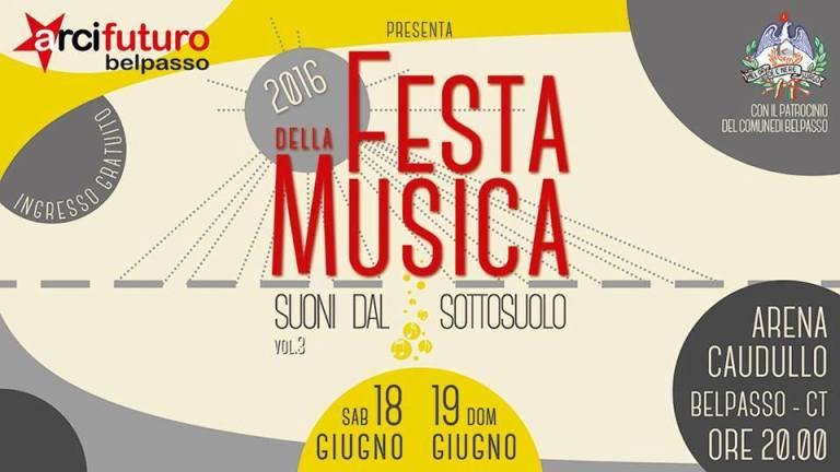"""Belpasso, il 18 e 19 giugno """"Festa della Musica 2016"""""""