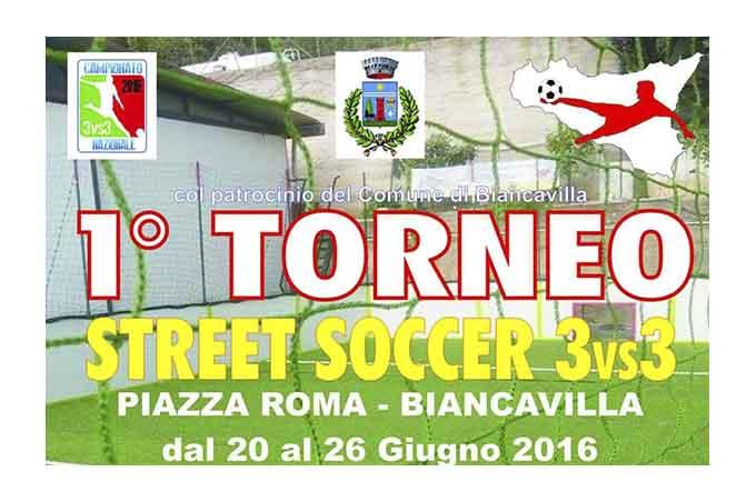Biancavilla: in Piazza Roma il torneo Street Soccer 3vs3