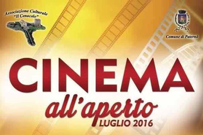 """Paternò, da oggi fino al 29 luglio """"Cinema all'aperto"""""""