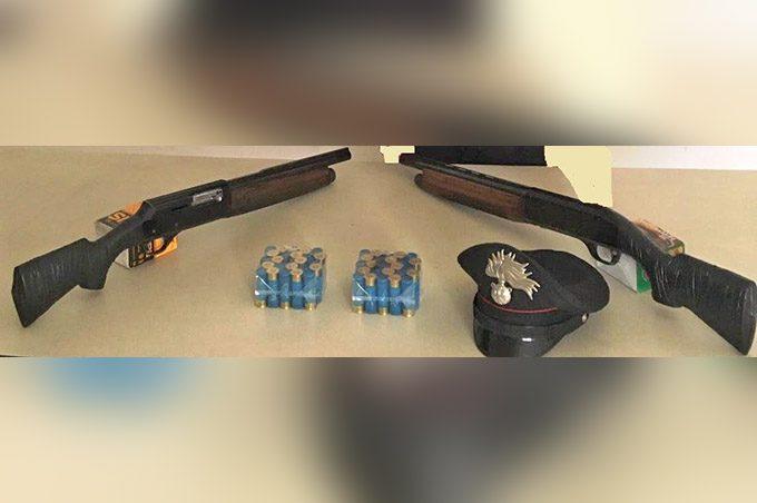 Santa Maria di Licodia, arresto per possesso di fucili a canne mozze