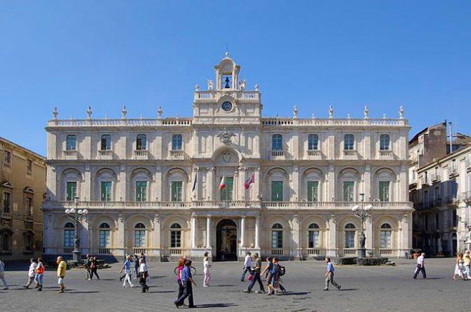 Il Palazzo centrale dell'Università di Catania - Foto Berthold Werner