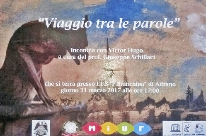 """Adrano, """"Viaggio tra le Parole"""" di Victor Hugo"""