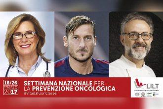 I campioni della prevenzione: un medico, Francesco Totti e Massimo Bottura