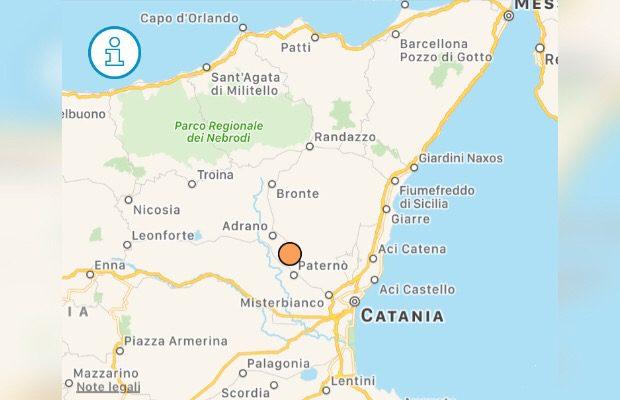 Santa Maria di Licodia, notte di paura per evento sismico con epicentro a ridosso del paese