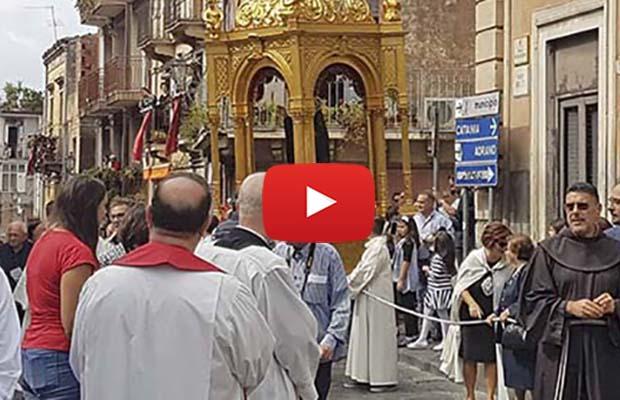 Biancavilla, concluse feste in onore di san Zenone, san Placido e della Madonna dell'Elemosina (VIDEO)