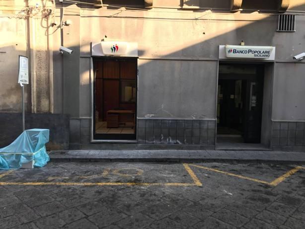 Santa Maria di Licodia, rubato il bancomat al Banco Popolare