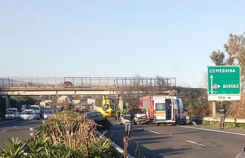 A18 Catania-Messina: due gravi incidenti in poche ore