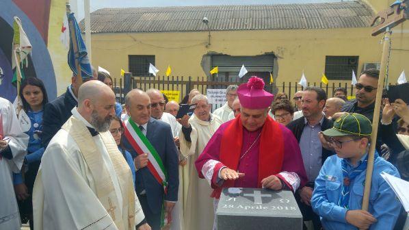 Biancavilla, posa della prima pietra per la futuristica chiesa del Santissimo Salvatore