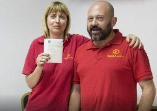 La riconfermata presidente Simona Modeo e Giuseppe Barbagiovanni
