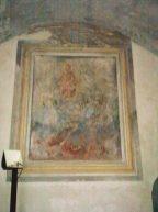 ''Madonna con anime del Purgatorio', affresco sopra l'altare della cripta