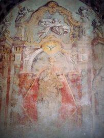 La 'Madonna di Gibilmanna' dipinta nel portico del chiostro