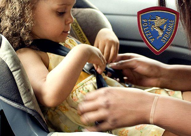 """Polizia Stradale. Avviata la prima campagna di sicurezza """"Bimbi in auto"""""""