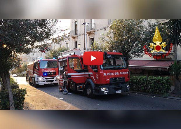 Catania. Incendio ristorante in via di Sangiuliano