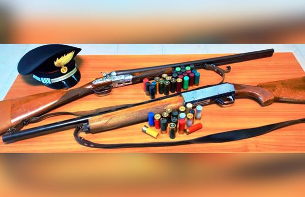Bronte. Denunciato bracconiere, sequestrati due fucili e pallottole