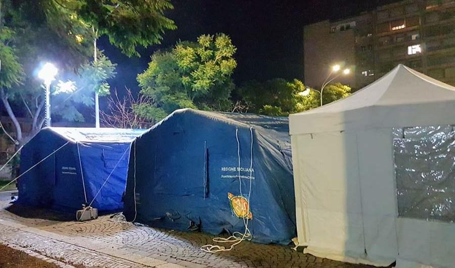 Catania. Coordinamento Fir allestisce campo per senzatetto