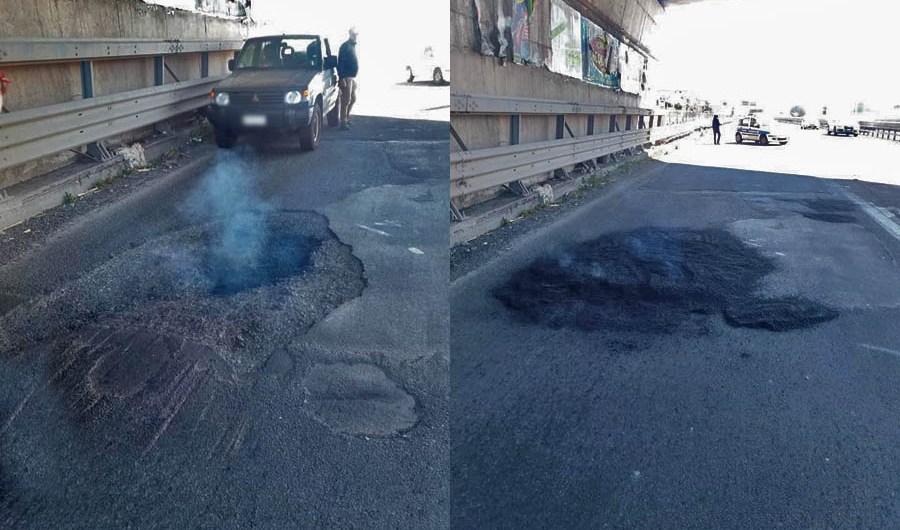 """Belpasso. Il comune ci mette una """"pezza"""" d'asfalto"""