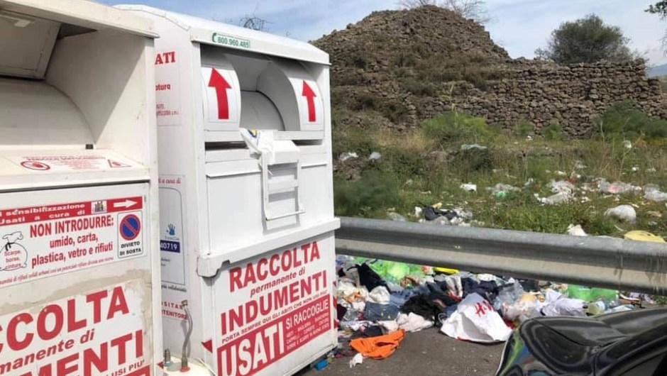 Belpasso. Cassonetti per i vestiti pieni di rifiuti: dal primo maggio verranno eliminati
