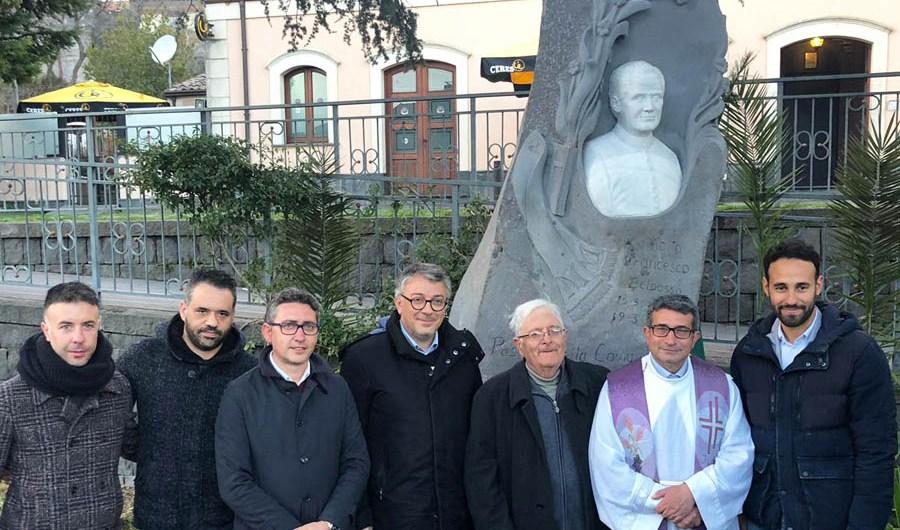 Belpasso. Inaugurato monumento in onore del canonico Francesco Motta Denaro
