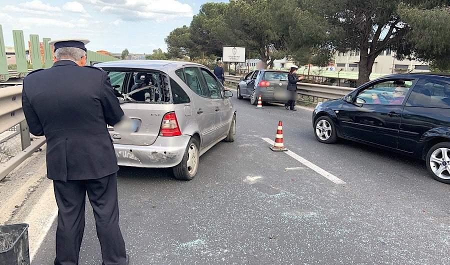 Ss121. Incidente nei pressi di Valcorrente