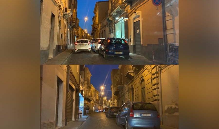 Santa Maria di Licodia. Sosta selvaggia in via Vittorio Emanuele