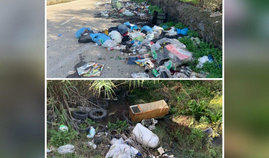Santa Maria di Licodia. Bomba ambientale sulla Sp85