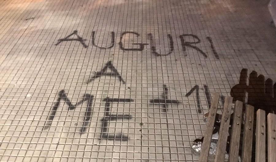 """Belpasso. I """"writers"""" deturpano la nuova piazza intitolata a Veronica Valenti"""