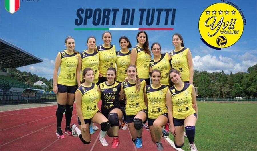 """Adrano. La San Giuseppe Yvii Volley inserita nel progetto gratuito """"Sport di tutti"""""""