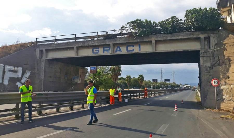 """Statale 121, in quindici giorni avvio della ricostruzione """"Ponte Graci"""""""