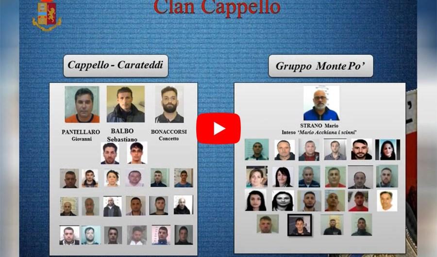 """Catania. Operazione """"Camaleonte"""" contro clan """"Cappello-Bonaccorsi"""": misura cautelare per 52 persone (CON 6 VIDEO)"""
