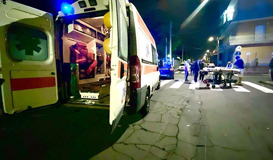 Piano Tavola. Incidente motociclistico a piazza Pertini